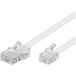 Microconnect MPK463 15m Transparent,White telephony cable