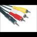 Microconnect 3.5mm - 3XRCA (1.5m) 1.5m 3.5mm 3 x RCA Black composite video cable