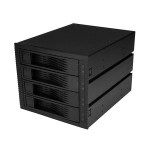 "StarTech.com 4 Bay 3.5"" SATA / SAS Backplane for 3 5.25"" Bays - Trayless"
