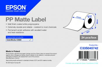 Epson C33S045742 printer label White