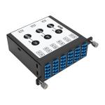 Tripp Lite 8.3/125 Singlemode Fiber 40/100 Gb to 10 Gb Breakout Cassette, (x3) 8-Fiber MTP/MPO (APC) to (x12) LC (UPC) Duplex, N484 Chassis