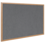 Bi-Office FB0742239 insert notice board Indoor Grey Wood