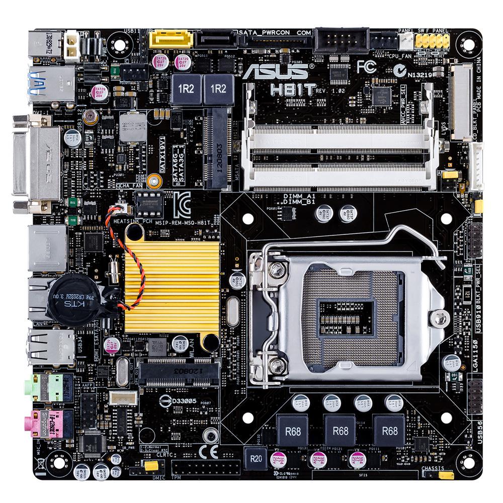 ASUS H81T Intel H81 LGA 1150 (Socket H3) Mini ITX motherboard
