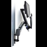 "Ergotron StyleView Sit-Stand Combo Arm 24"" Aluminio soporte de pared para pantalla plana"