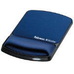 Fellowes Gel Wrist Rest & Mouse Pad Microban Sapphire