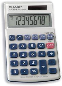Sharp EL-240SAB calculator Pocket Basic Grey