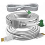 Vision TECHCONNECT V3 5M CABLE PACKAGE White Installation-grade Cables. Included: 1 x VGA, 1 x 3.5mm Minija TC3-PK5MCABLES