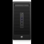 HP 280 G2 3.3GHz G4400 Micro Tower Black PC