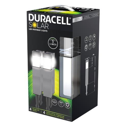 Duracell GL004NP4DU outdoor lighting Outdoor ground lighting Nickel LED