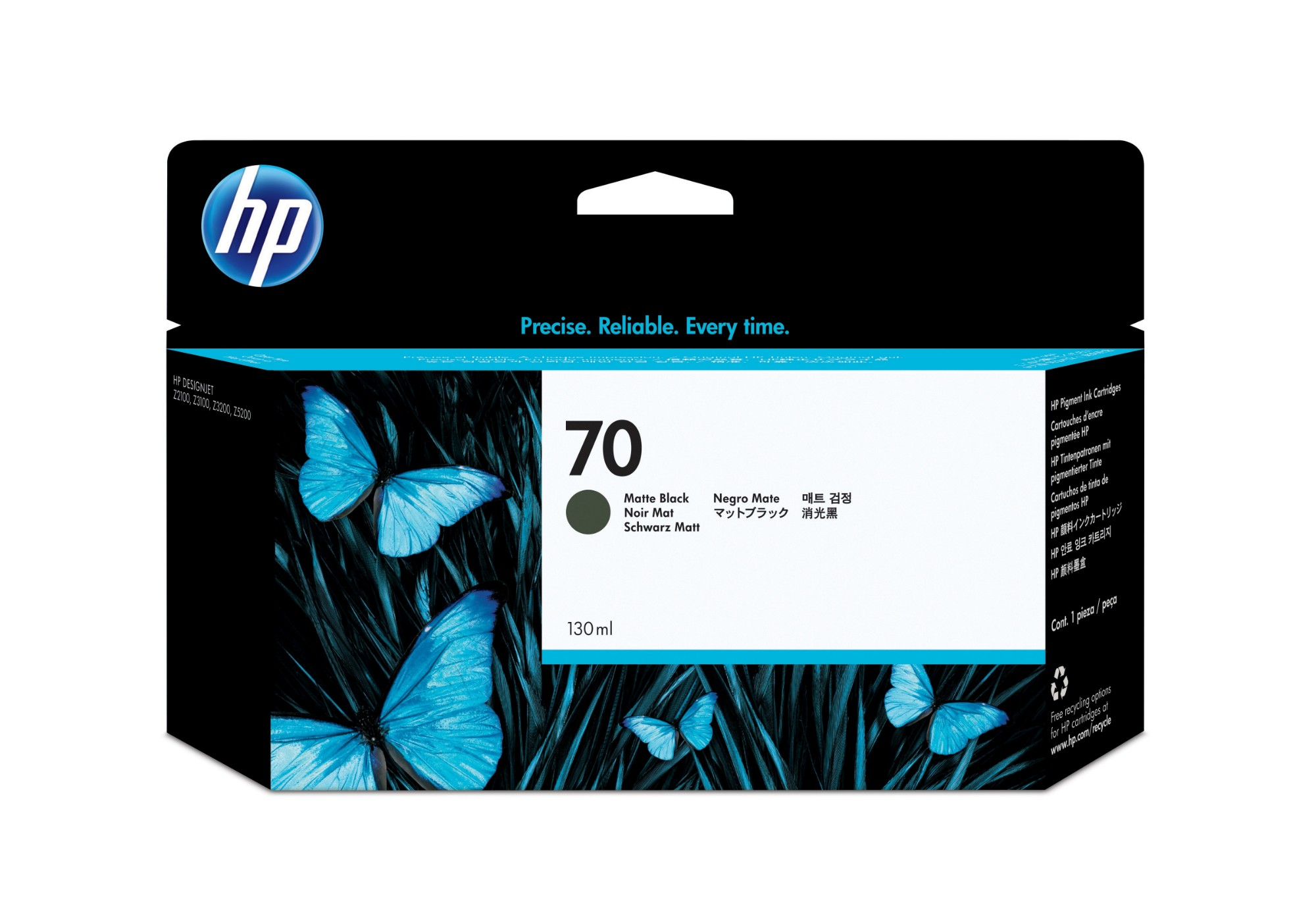 HP 70 Original Negro mate