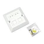 Cables Direct UT-8702 wall plate/switch cover White
