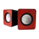 APPROX (APPSPX1R) 2.0 Mini Stereo Speakers, 5W RMS, Red