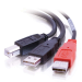 C2G USB B/USB A Y-Cable cable USB 2 m 2 x USB A Negro