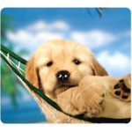 FELLOWES MOUSE PAD OPTICAL RECYCLED PUPPY IN HAMMOCK