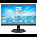 "Philips V Line 221V8A/00 LED display 54.6 cm (21.5"") 1920 x 1080 pixels Full HD Black"