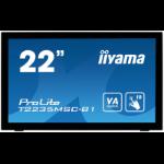 "iiyama ProLite T2235MSC 54.6 cm (21.5"") 1920 x 1080 pixels Multi-touch Tabletop Black"