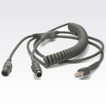 Datalogic KBW, 6MDIN, P&S, E/P-POT, Coil, 12' cable para video, teclado y ratón (kvm) 3,6 m