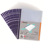 Rexel Nyrex™ Reinforced Top Opening A4 Pocket Clear (25)