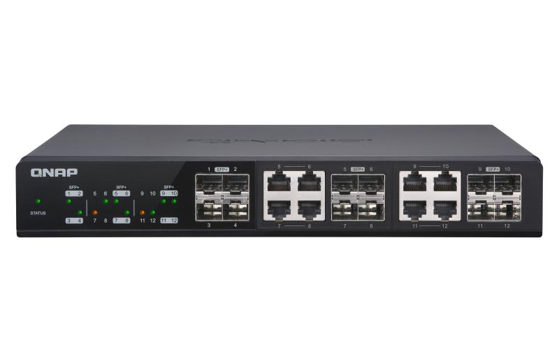 QNAP QSW-M1208-8C switch Gestionado 10G Ethernet (100/1000/10000) Negro