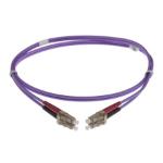 NENCO 4-DX-LC-LC-2-HVT fibre optic cable 2 m LSZH OM4 Violet