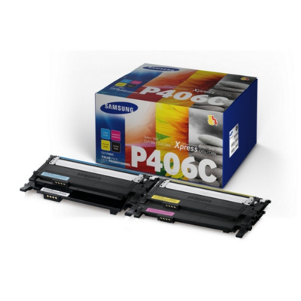 Samsung CLT-P406C/ELS (C406) Toner MultiPack, 1500pg + 3x1000pg