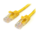 StarTech.com Cable de 3m Amarillo de Red Fast Ethernet Cat5e RJ45 sin Enganche - Cable Patch Snagless