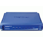 Trendnet TW100-S4W1CA wireless router Fast Ethernet Blue