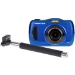 Praktica Luxmedia Waterproof WP240 Blue Camera inc free Selfie Stick