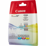 Canon 2934B011 (CLI-521) Ink cartridge multi pack, 446 pages, 9ml, Pack qty 3