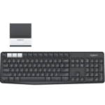 Logitech K375s toetsenbord RF Wireless + Bluetooth QWERTZ Duits Grafiet, Wit