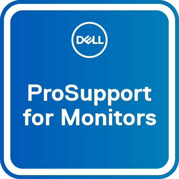 DELL 3Y Base Warranty for monitors with Advanced Exchange – 5Y ProSupport for monitors
