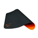 Gigabyte AORUS AMP300 Hybrid Gaming Mouse Pad Fabric Black Surface Organse Silicon Base Heat Molding Edge Spi