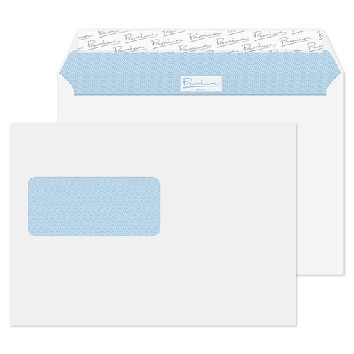 Blake Premium Office Wallet Window Peel and Seal Ultra White Wove C5 120gsm (Pack 500)