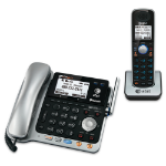 AT&T TL86109 telephone Analog/DECT telephone Black,Silver Caller ID