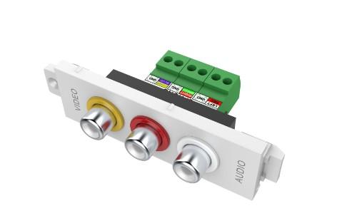 Vision TC3 3PHO 3 x RCA White socket-outlet
