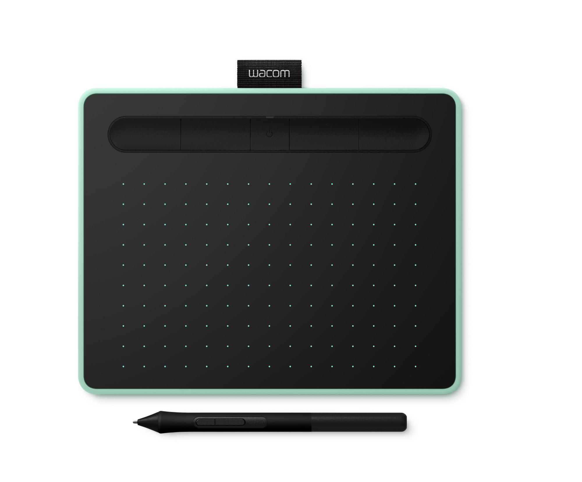 Wacom Intuos S Bluetooth tableta digitalizadora 2540 líneas por pulgada 152 x 95 mm USB/Bluetooth Verde, Negro