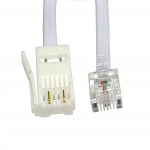 Cables Direct 88BT-202W telephone cable 2 m White