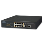 Planet FSD-1008HP network switch Unmanaged Fast Ethernet (10/100) Black 1U Power over Ethernet (PoE)