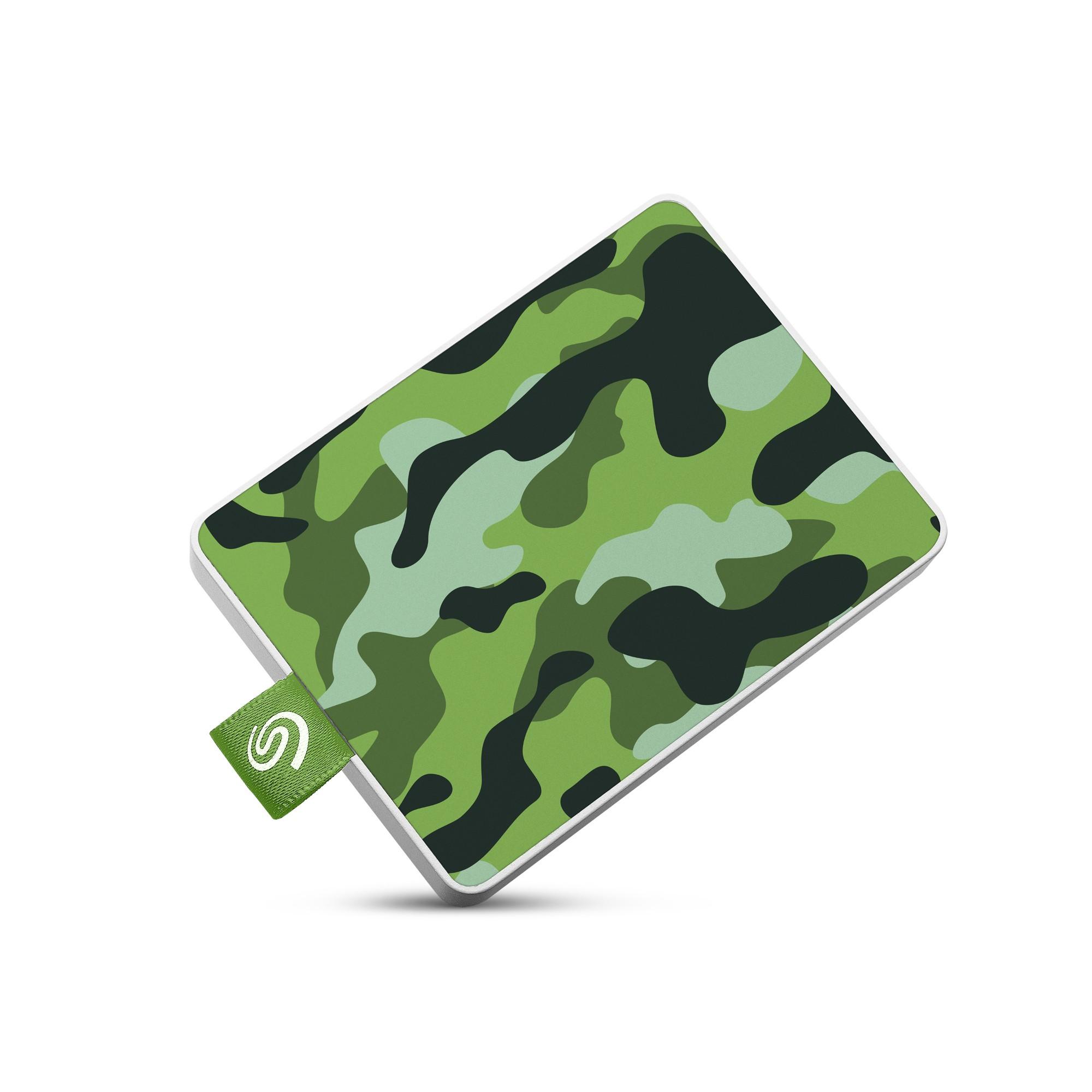 Seagate STJE500407 external hard drive 500 GB Camouflage,Green