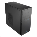 Aerocool QC-203 Micro ATX Case, No PSU, 8cm Fan, USB 3.0, Black