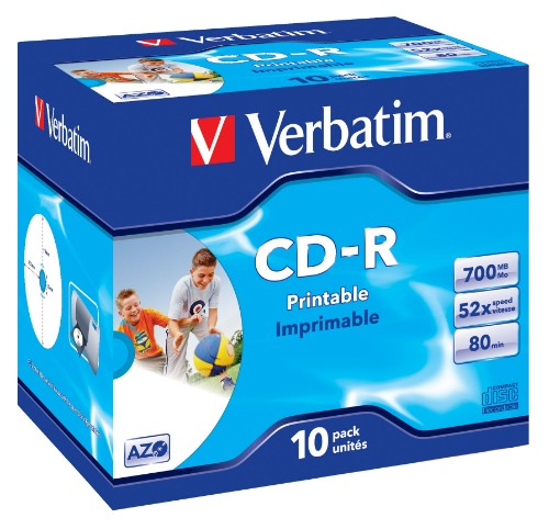 Verbatim CD-R AZO Wide Inkjet Printable CD-R 700MB 10pc(s)