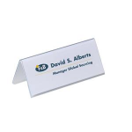 Durable for table place name holder Badge Inserts 61/122 x 150 mm