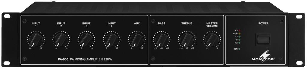 Monacor PA-900 Home Wired Black audio amplifier