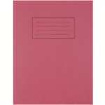 Silvine 9X7 EXER BOOKS FEINT MARGIN RED
