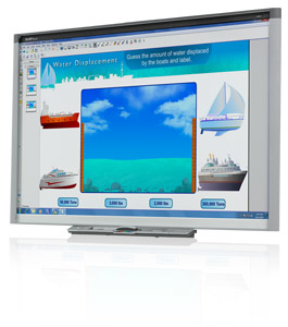 """Smart SBX885 87"""" Touchscreen USB White interactive whiteboard + Smart Learning Suite"""