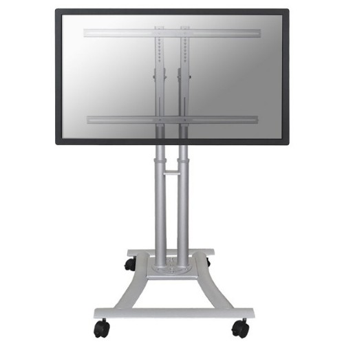 """Newstar Mobile Monitor/TV Floor Stand for 27""""-70"""" Screen, Height Adjustable - Silver"""
