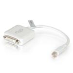 C2G 20cm Mini DisplayPort to DVI Adapter - Thunderbolt to Single Link DVI-D Converter M/F - White