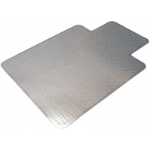 MARBIG TUFFMAT POLYCARBONATE CHAIRMAT KEYHOLE 1200 X 1500MM CLEAR