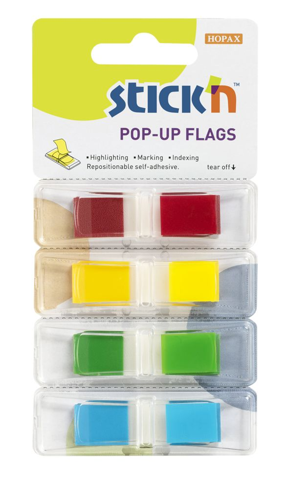 STICK N Value Stickn Pop-Up Flags 12mm 140 Tabs Printed 26020