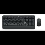 Logitech MK540 Advanced keyboard RF Wireless QWERTY Italian Black,White
